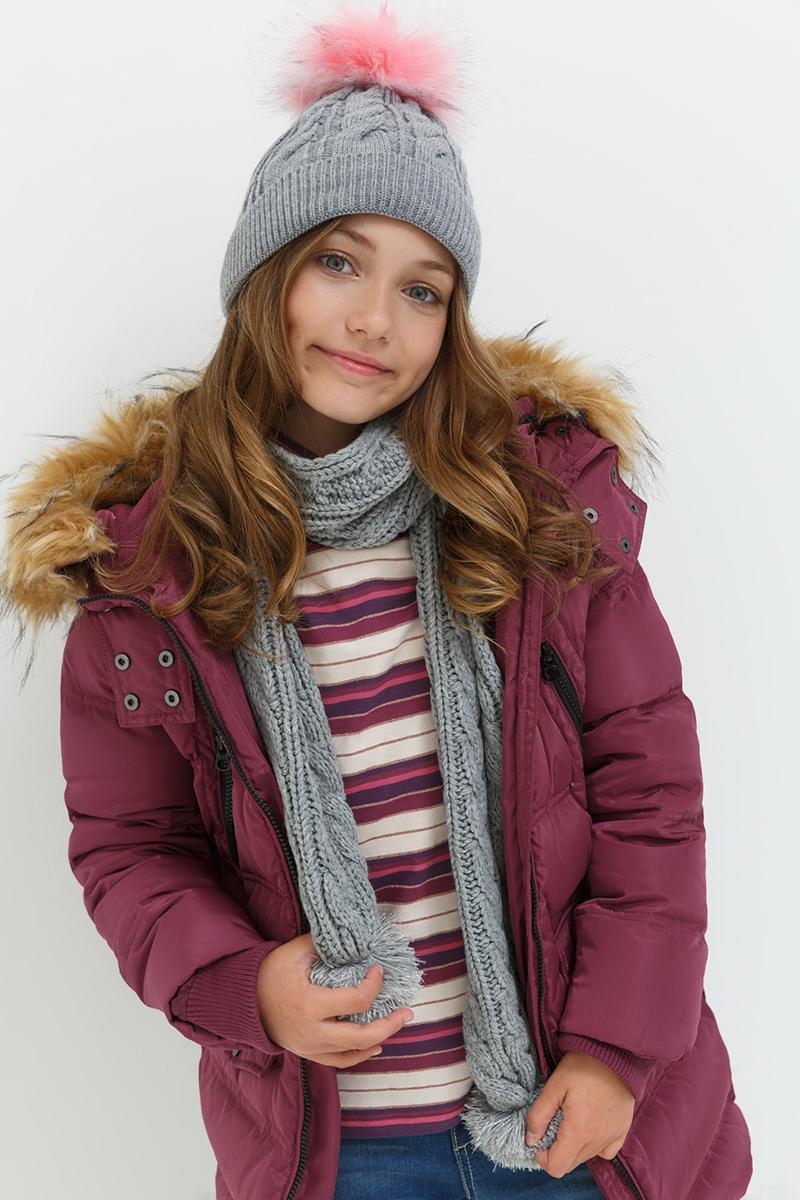 Шарф для девочек Acoola Bice, цвет: серый. 20206440030. Размер универсальный20206440030