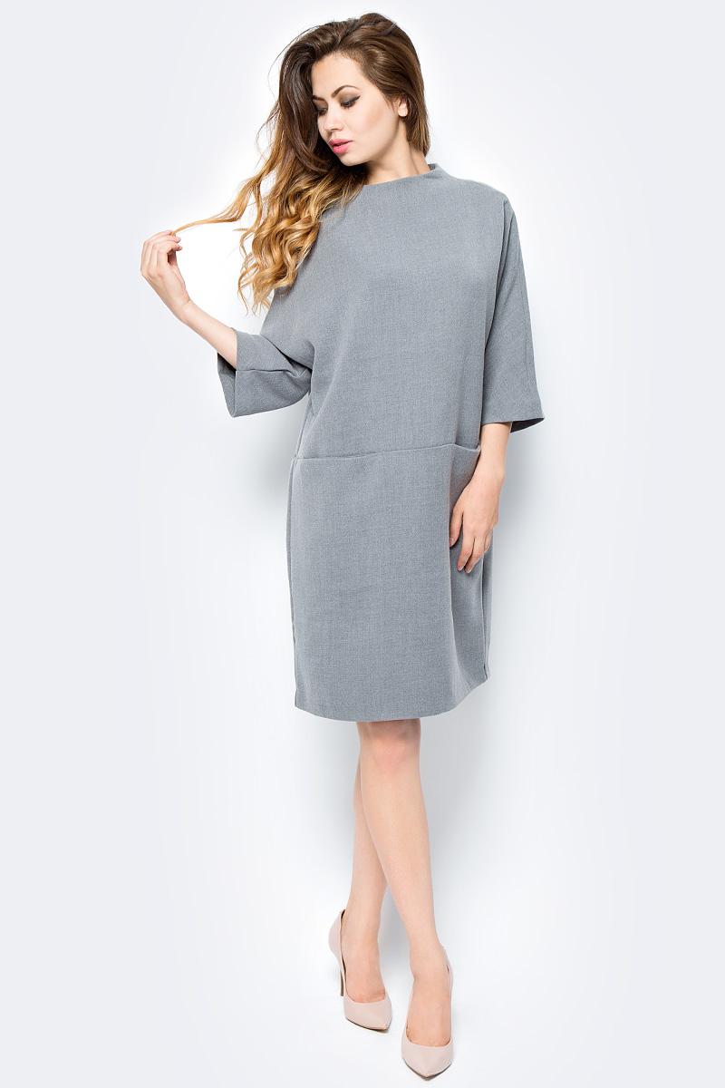 Платье Selected Femme, цвет: серый. 16053893. Размер 40 (46) рубашка женская selected femme цвет молочный 16052017 размер 40 46