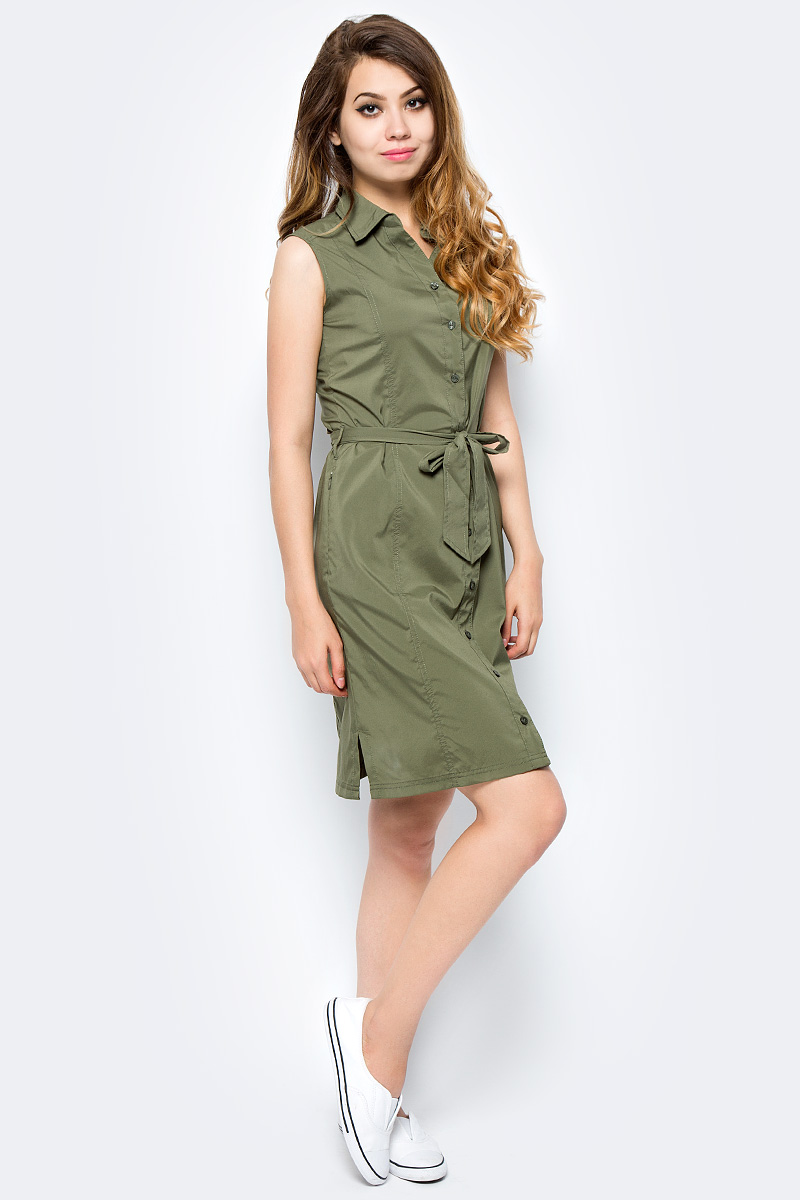 Платье Jack Wolfskin Sonora Dress, цвет: оливковый. 1503991-5033. Размер S (44) платье jack wolfskin wahia dress цвет коралловый 1502892 2043 размер xl 50 52