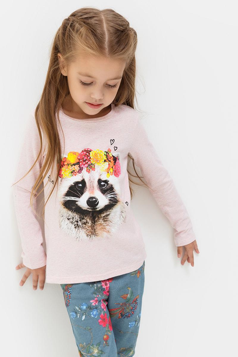 Джемпер для девочек Acoola Avon, цвет: светло-розовый. 20220100120. Размер 11620220100120