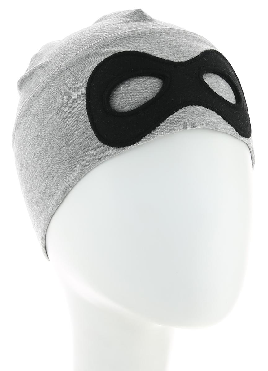 Шапка для мальчика Tom Tailor, цвет: серый. 0221631.00.82_2482. Размер 50/520221631.00.82_2482Шапка для мальчика от Tom Tailor выполнена из эластичного хлопкового трикотажа с добавлением вискозы. Спереди шапка оформлена имитацией маски.
