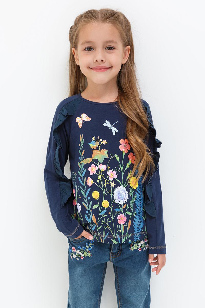 Джемпер для девочек Acoola Bell, цвет: темно-синий. 20220100122. Размер 11620220100122