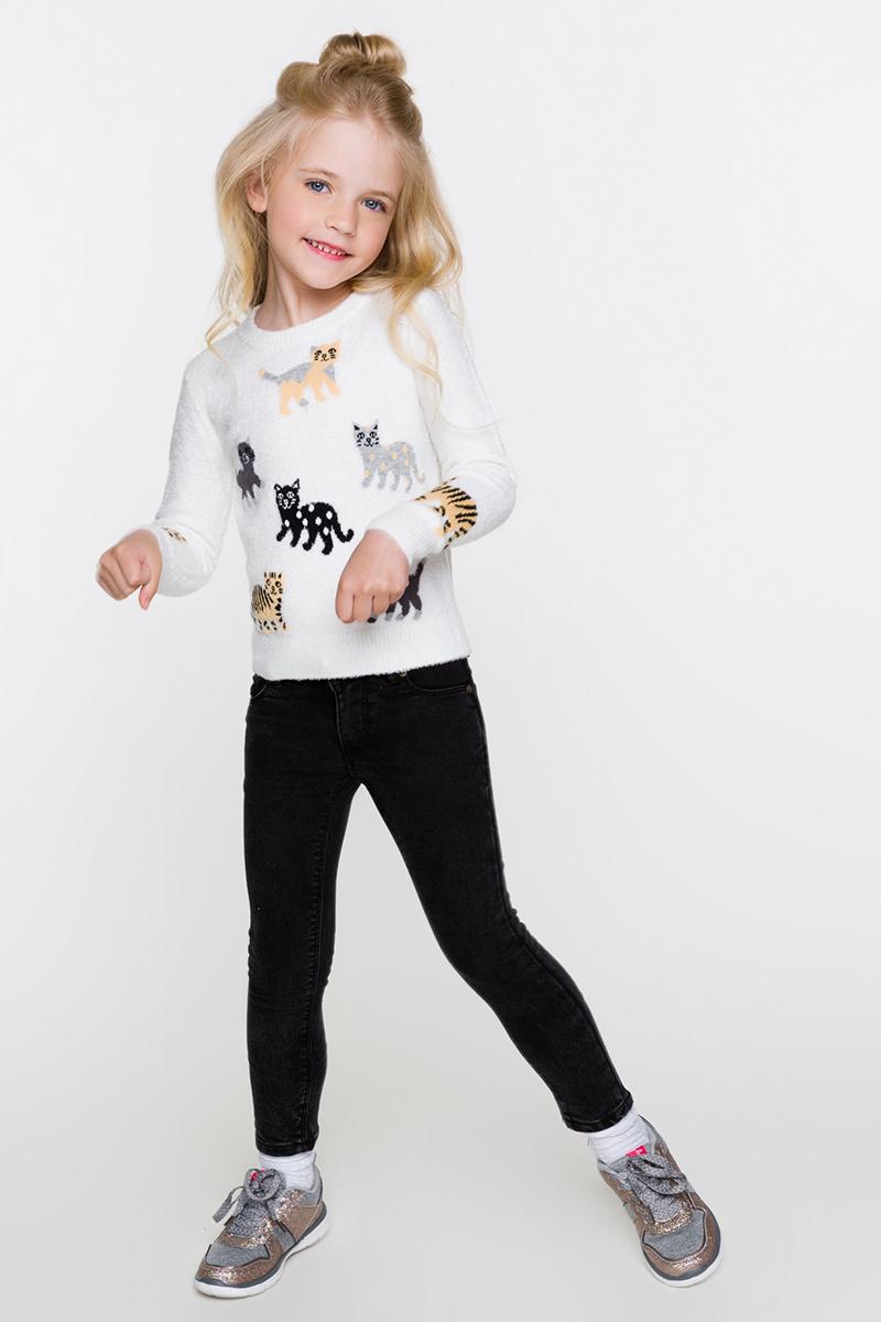 Джемпер для девочек Acoola Bolton, цвет: белый. 20220310045. Размер 11020220310045