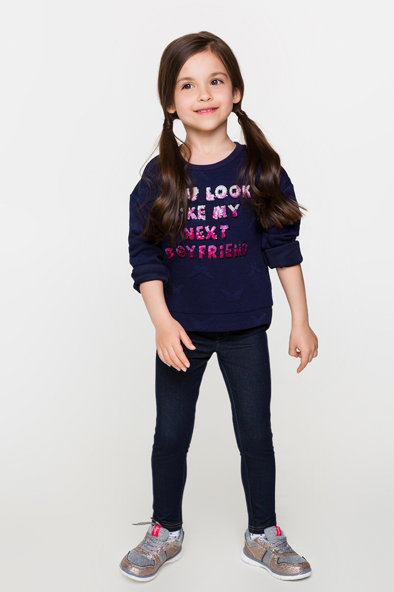 Джемпер для девочек Acoola Denmark, цвет: темно-синий. 20220100115. Размер 10420220100115