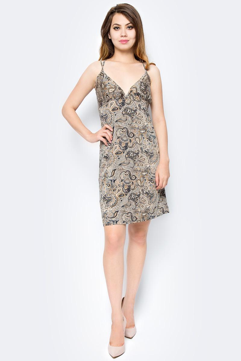 Платье Hammond, цвет: бежевый. 1-12-5-36. Размер 44