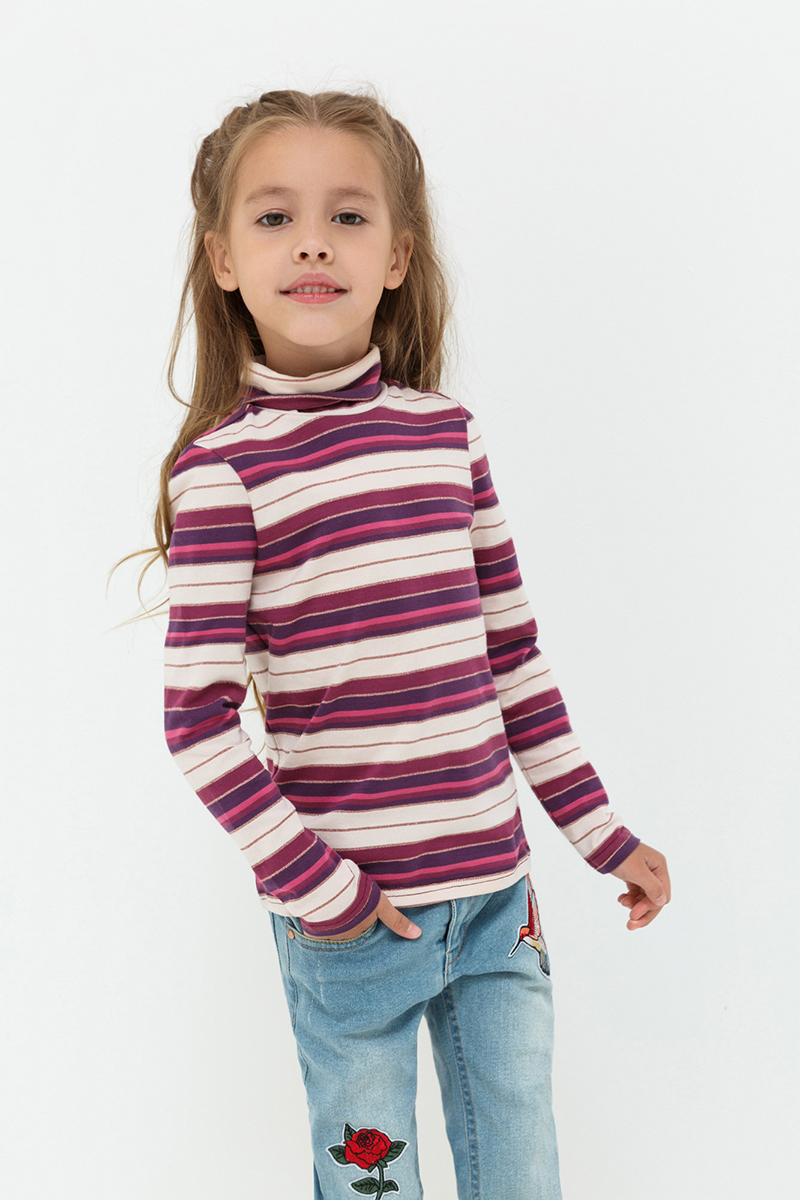 Джемпер для девочек Acoola Isadora, цвет: бордовый. 20220100119. Размер 9820220100119
