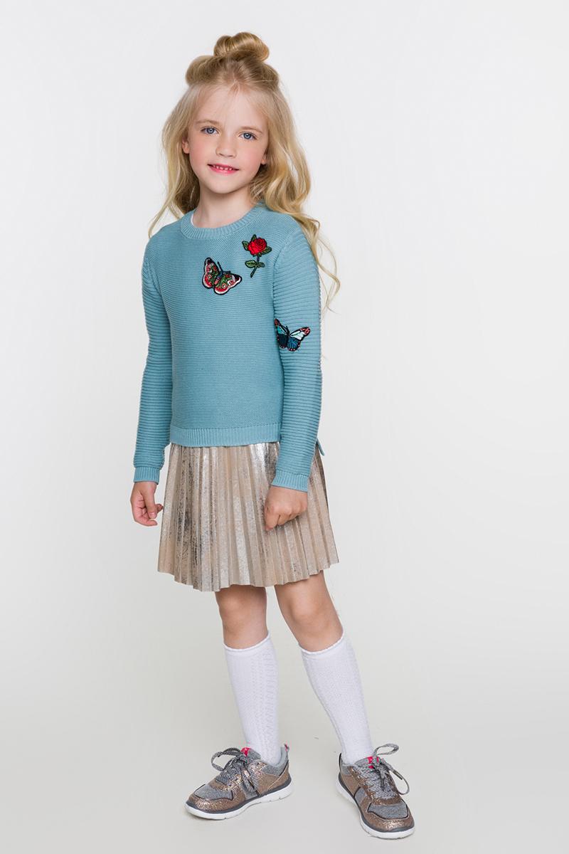 Джемпер для девочек Acoola Lester, цвет: синий. 20220310046. Размер 12220220310046