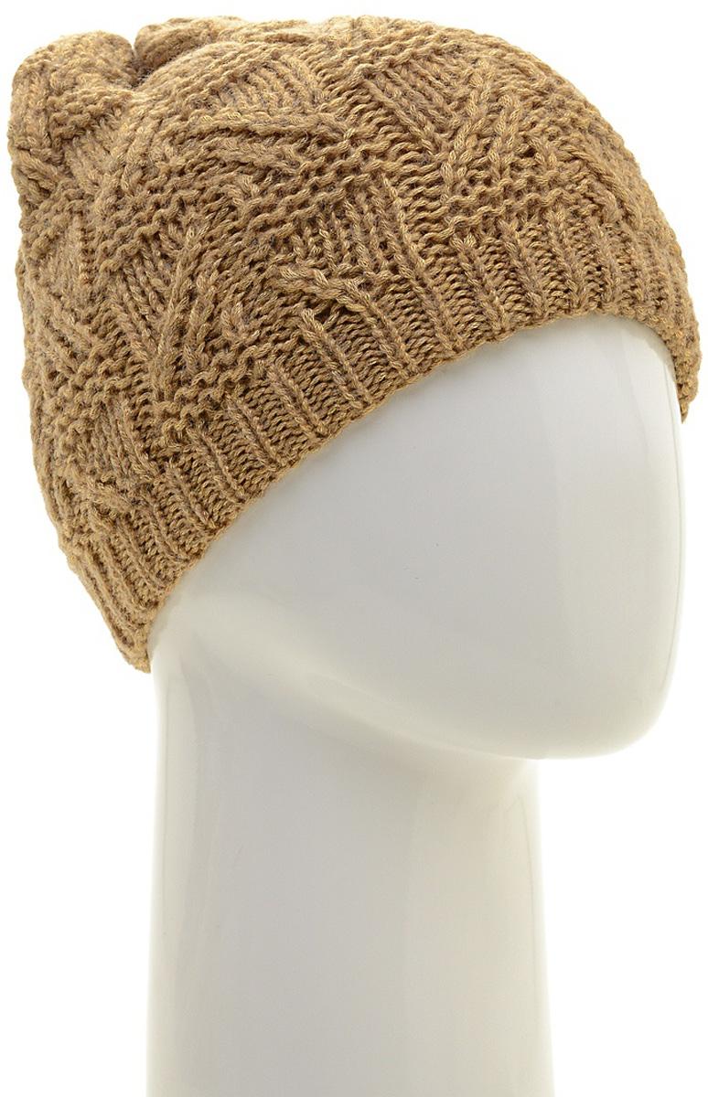 Шапка женская Marhatter, цвет: бежевый. MWH6966/3. Размер 56/58MWH6966/3Стильная шапка-колпак, выполнена из высококачественной пряжи. Модель очень актуальна для тех, кто ценит комфорт, стиль и красоту. Отличный вариант на каждый день.