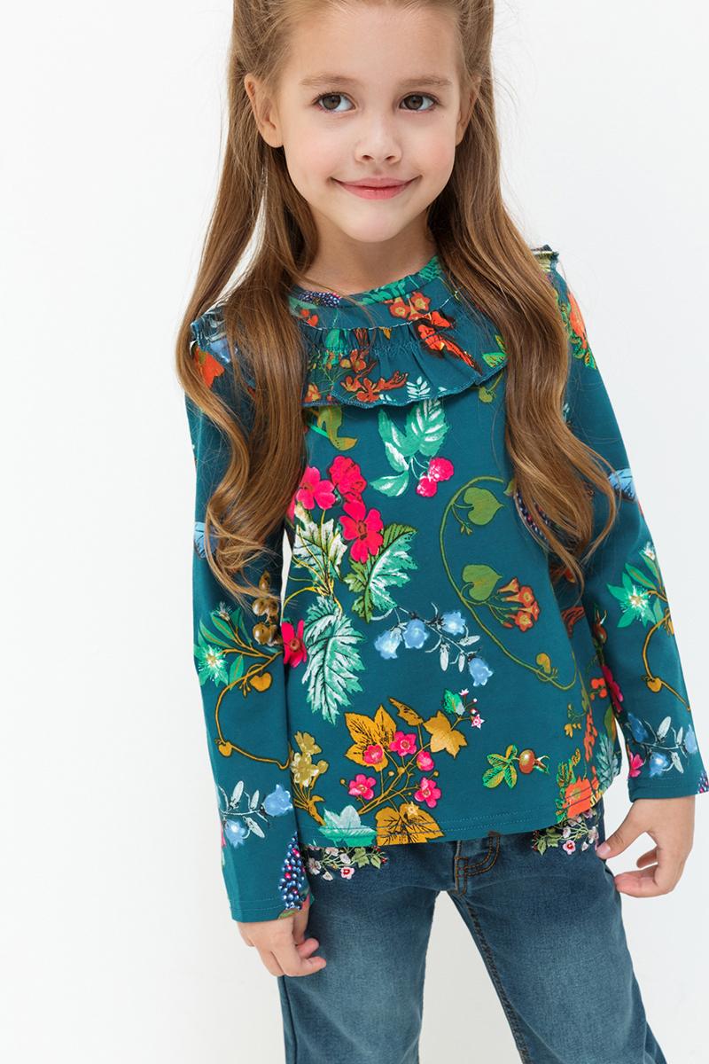 Джемпер для девочек Acoola Oriflame, цвет: мультиколор. 20220100125. Размер 9220220100125