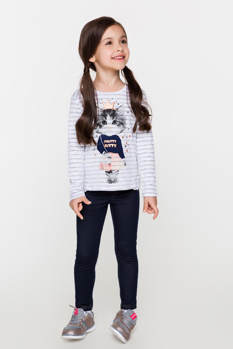 Джемпер для девочек Acoola Real, цвет: белый, серый. 20220100113. Размер 10420220100113