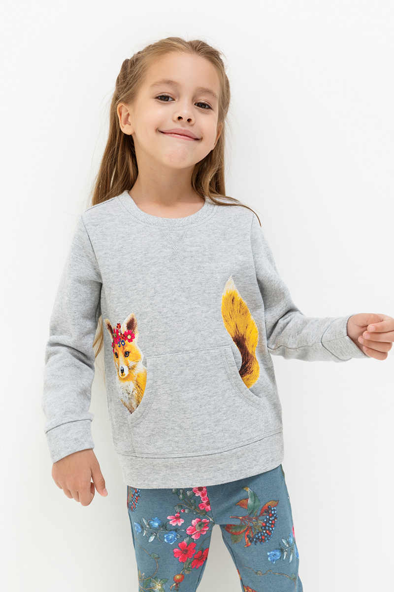 Джемпер для девочек Acoola Revlon, цвет: светло-серый. 20220100117. Размер 9820220100117