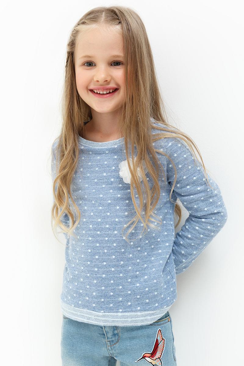 Джемпер для девочек Acoola Sterling, цвет: синий. 20220100109. Размер 10420220100109