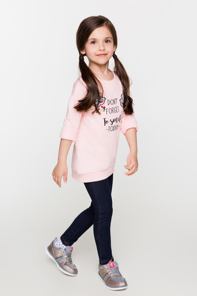 Джемпер для девочек Acoola Won, цвет: светло-розовый. 20220100106. Размер 12220220100106