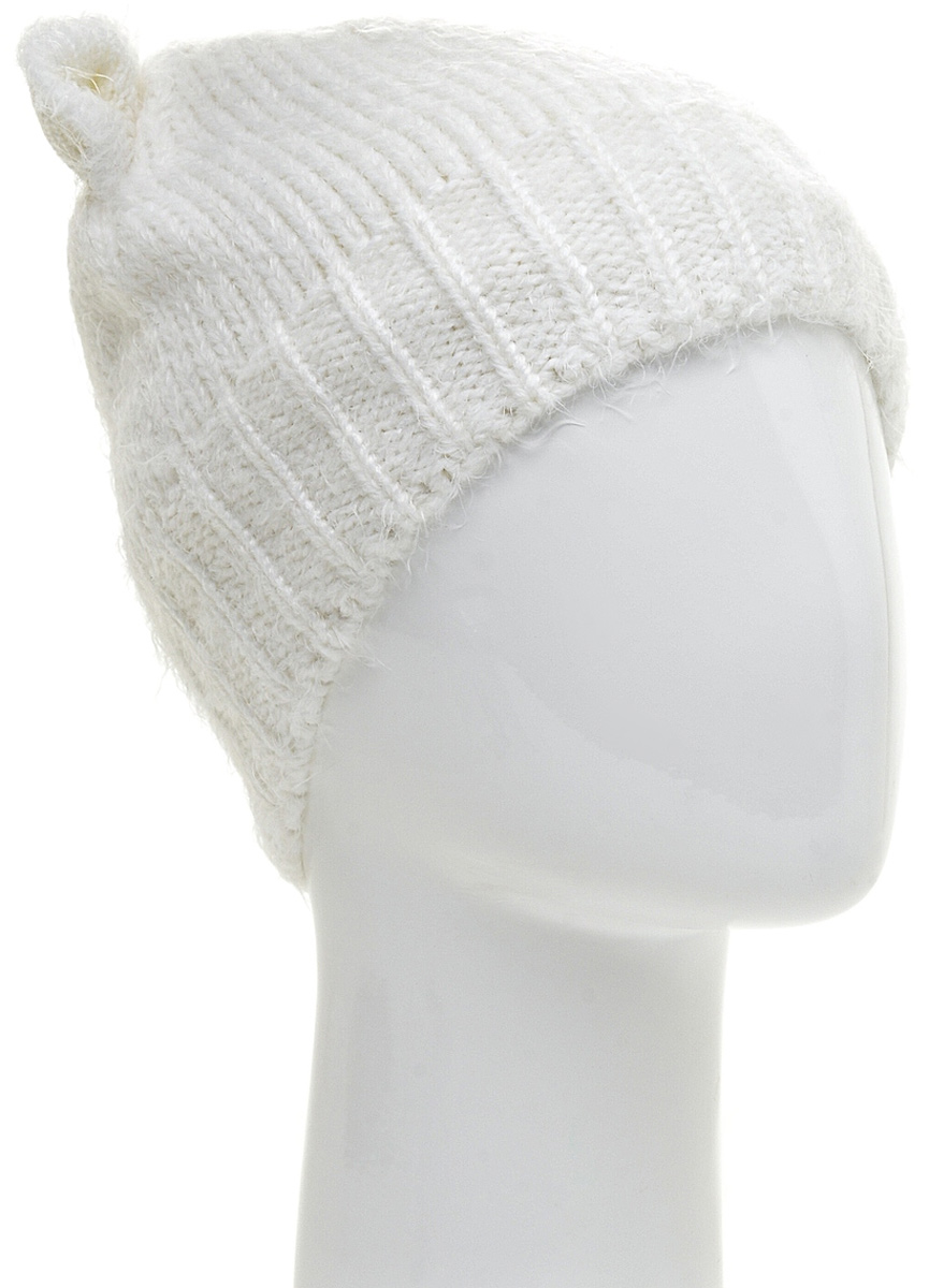 Шапка женская Marhatter, цвет: белый. MWH5811/2. Размер 56/58MWH5811/2Модная шапка кошка в стиле Yeti. Модель отлично подойдет современным модницам, которые хотят проявить свою индивидуальность.