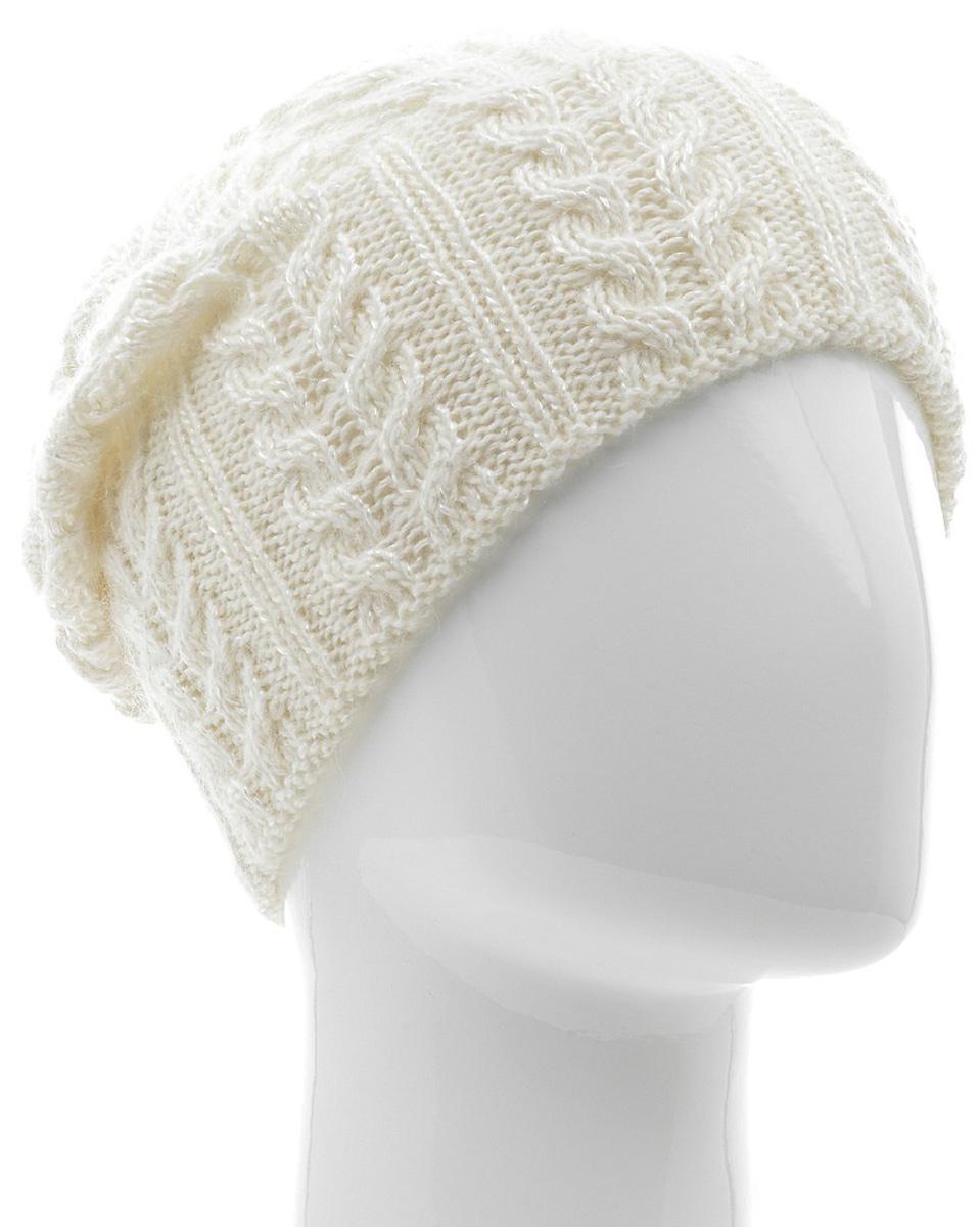 Шапка женская Marhatter, цвет: белый. MWH5739/6. Размер 56/58MWH5739/6Стильная шапка-колпак, выполнена из высококачественной пряжи. Модель очень актуальна для тех, кто ценит комфорт, стиль и красоту. Отличный вариант на каждый день.
