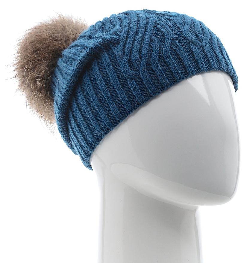 Шапка женская Marhatter, цвет: темно-бирюзовый. MLH6882/3. Размер 56/58MLH6882/3Стильная шапка с помпоном добавит уникальность вашему образу. Данная модель мягкая и комфортная на ощупь. Модель на полном флисе.