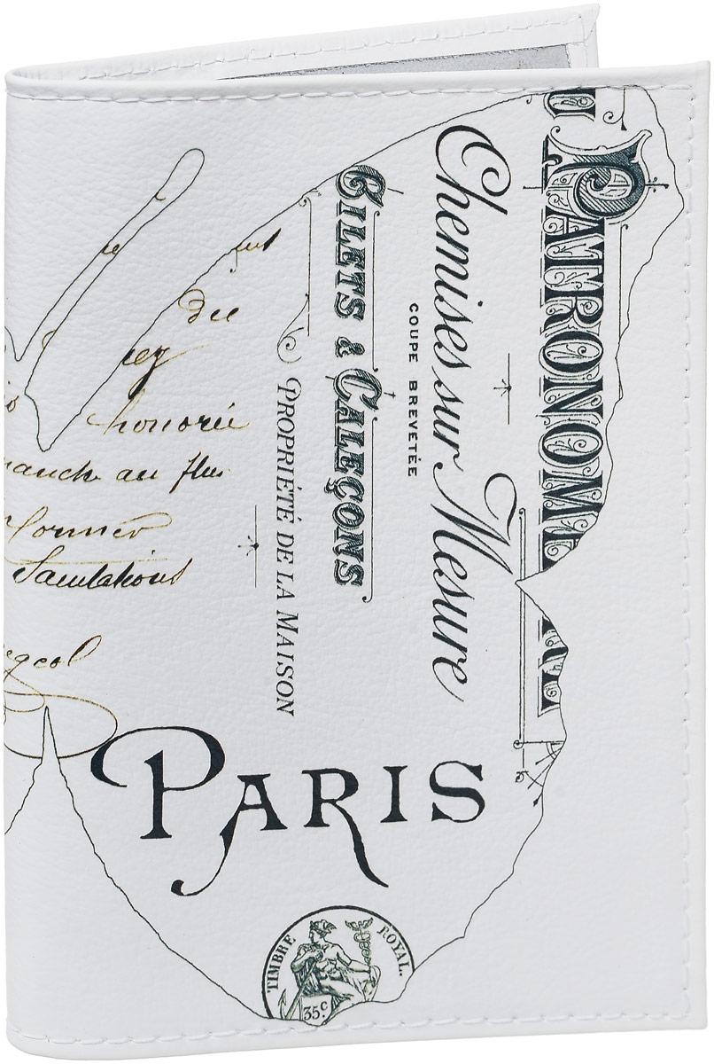 Обложка для паспорта Mitya Veselkov Бабочка в Париже, цвет: черный, белый. OK408OK408Обложка для паспорта Mitya Veselkov выполнена из натуральной кожи. Такая обложка не только поможет сохранить внешний вид ваших документов и защитит их от повреждений, но и станет стильным аксессуаром, идеально подходящим вашему образу. Яркая и оригинальная обложка подчеркнет вашу индивидуальность и изысканный вкус. Обложка для паспорта стильного дизайна может быть достойным и оригинальным подарком. Обложка подходит как для российского, так и для заграничного паспорта. Размер: 13,8 x 9,5 см.