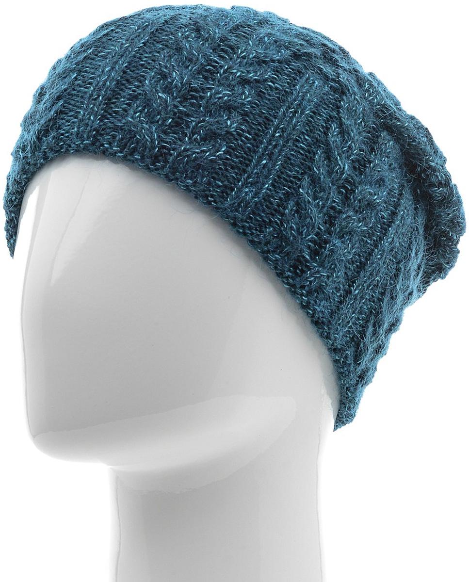 Шапка женская Marhatter, цвет: темно-бирюзовый. MWH5739/6. Размер 56/58MWH5739/6Стильная шапка-колпак, выполнена из высококачественной пряжи. Модель очень актуальна для тех, кто ценит комфорт, стиль и красоту. Отличный вариант на каждый день.