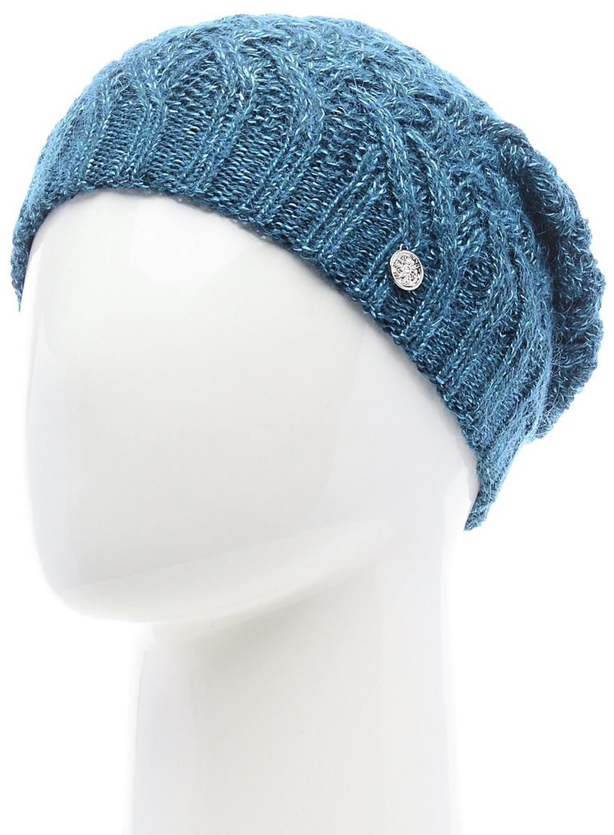 Шапка женская Marhatter, цвет: темно-бирюзовый. MWH6769/3. Размер 56/58MWH6769/3Стильная шапка, выполнена из высококачественной пряжи. Модель очень актуальна для тех, кто ценит комфорт, стиль и красоту. Отличный вариант на каждый день.