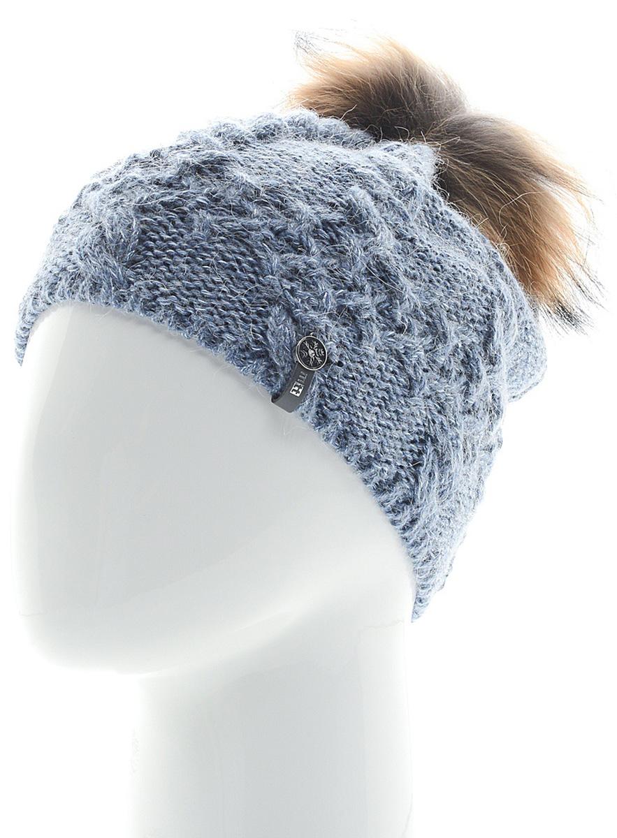 Шапка женская Marhatter, цвет: голубой. MWH6759/2. Размер 56/58MWH6759/2Стильная шапка с помпоном добавит уникальность вашему образу. Данная модель мягкая и комфортная на ощупь. Модель на полном флисе.