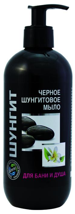 ЧЕРНОЕ ШУНГИТОВОЕ Мыло, серия Природная аптека Шунгит для бани и душа, 500 мл