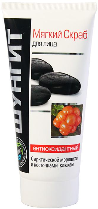 Мягкий скраб Природная аптека Шунгит для лица Антиоксидантный, 180 мл