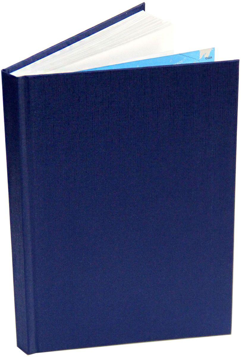 Канц-Эксмо Ежедневник недатированный 152 листа цвет темно-синий формат А5ЕБ17515201Недатированный ежедневник Канц-Эксмо формата А5 великолепно подойдет для записей и заметок. Ежедневник имеет сшитый внутренний блок из белой офсетной бумаги плотностью 60гр/м2 без разметки. Твердая обложка из бумвинила на форзацах оформлена картой России/мира. Изделие дополнено справочными материалами.