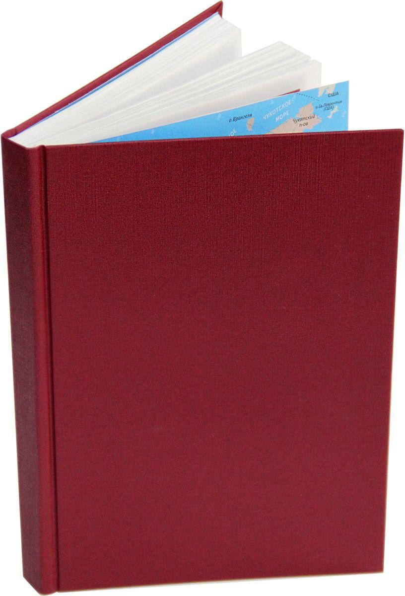 Канц-Эксмо Ежедневник недатированный 152 листов цвет вишневый формат А5 listoff ежедневник мегаполис недатированный 152 листа