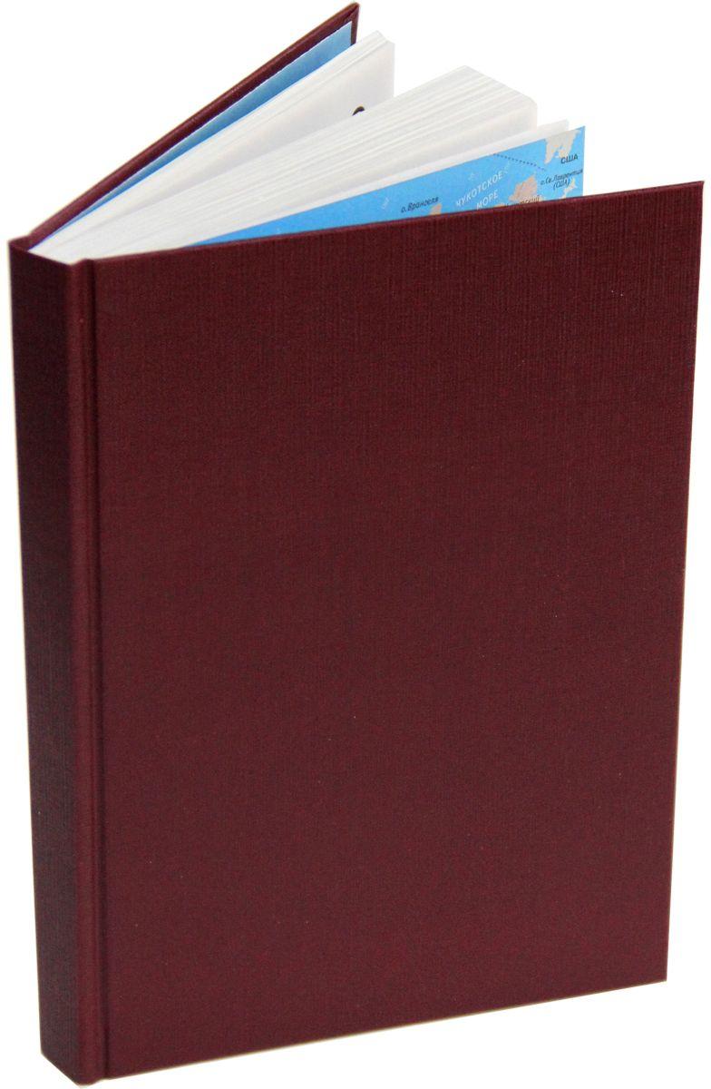 Канц-Эксмо Ежедневник 152 листов цвет бордовый формат А5ЕБ17515208Ежедневник А5. недатированный, 152 л, бумвинил. форзацы - карта России/мира, бумага - офсетная 60 г/м2, справочные материалы, Бордовый 152л. А5