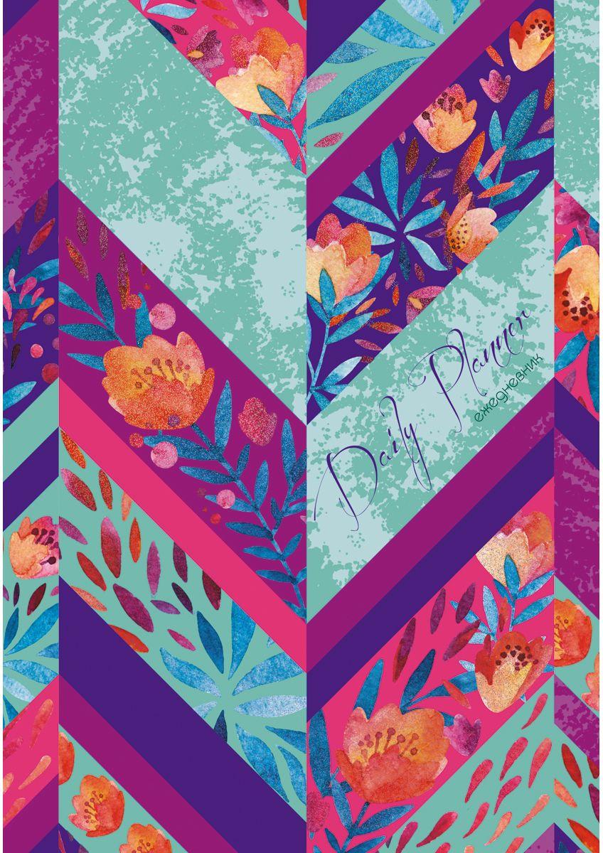 Канц-Эксмо Ежедневник Орнамент Цветочный микс недатированный 112 листов формат А5ЕЖБ18511205Ежедневник недатированный Орнамент. Цветочный микс формата А5, 112 листов. Твердая обложка с паралоном, матовая ламинация, выборочная ламинация, блестки. Форзацы - цветные, бумага цветная, офсетная 80 г/м2. Издание дополнено ляссе.
