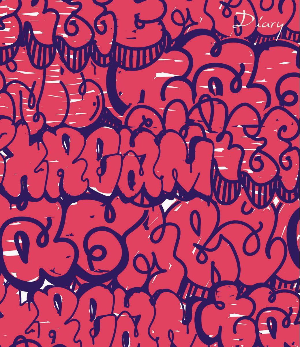Канц-Эксмо Ежедневник Орнамент Граффити недатированный 160 листов формат А5 канц эксмо ежедневник графика орхидеи недатированный 160 листов формат a5
