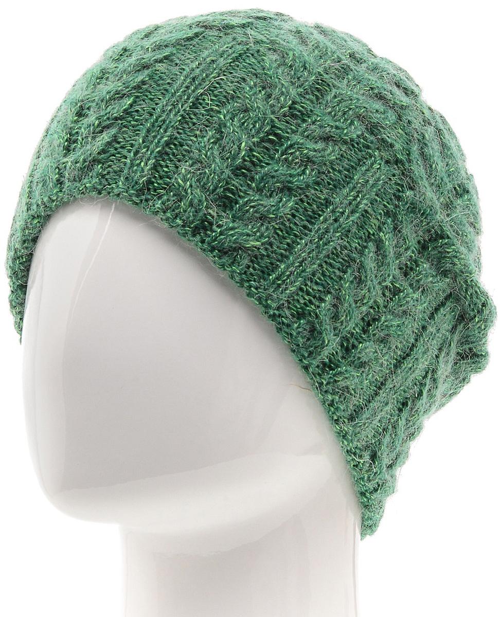 Шапка женская Marhatter, цвет: зеленый. MWH5739/3. Размер 56/58MWH5739/3Стильная шапка-колпак, выполнена из высококачественной пряжи. Модель очень актуальна для тех, кто ценит комфорт, стиль и красоту. Отличный вариант на каждый день.