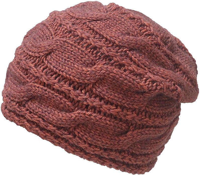 Шапка женская Marhatter, цвет: коричнево-красный. Размер 56/58. MWH6765/1MWH6765/1Отличная вязаная шапка в стиле сasual. Модель прекрасно подойдет для женщин, ценящих комфорт и красоту. Незаменимая вещь на прохладную погоду.