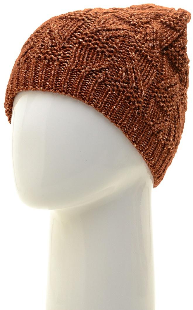 Шапка женская Marhatter, цвет: коричнево-красный. MWH6966/3. Размер 56/58MWH6966/3Стильная шапка-колпак, выполнена из высококачественной пряжи. Модель очень актуальна для тех, кто ценит комфорт, стиль и красоту. Отличный вариант на каждый день.