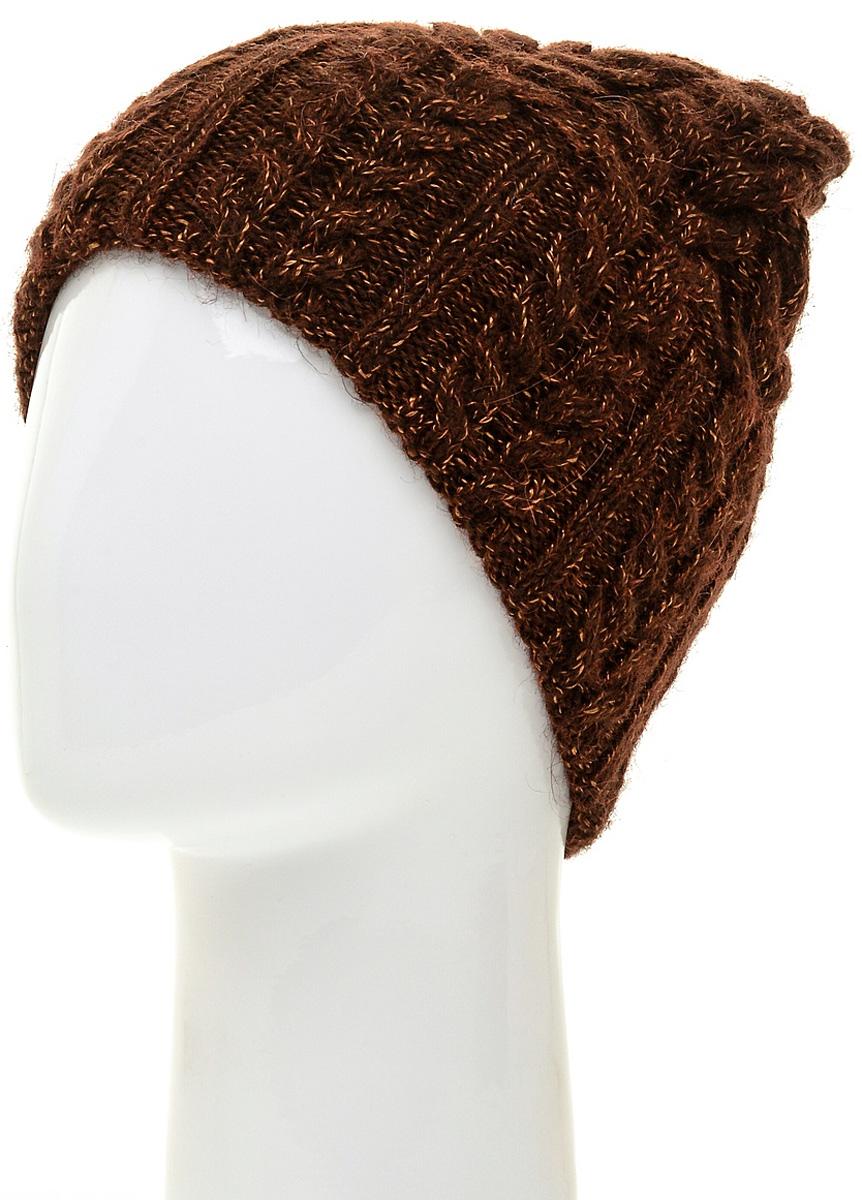 Шапка женская Marhatter, цвет: коричневый. MWH5739/3. Размер 56/58MWH5739/3Стильная шапка-колпак, выполнена из высококачественной пряжи. Модель очень актуальна для тех, кто ценит комфорт, стиль и красоту. Отличный вариант на каждый день.