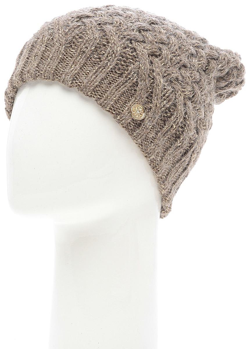 Шапка женская Marhatter, цвет: коричневый. MWH6769/3. Размер 56/58MWH6769/3Стильная шапка, выполнена из высококачественной пряжи. Модель очень актуальна для тех, кто ценит комфорт, стиль и красоту. Отличный вариант на каждый день.