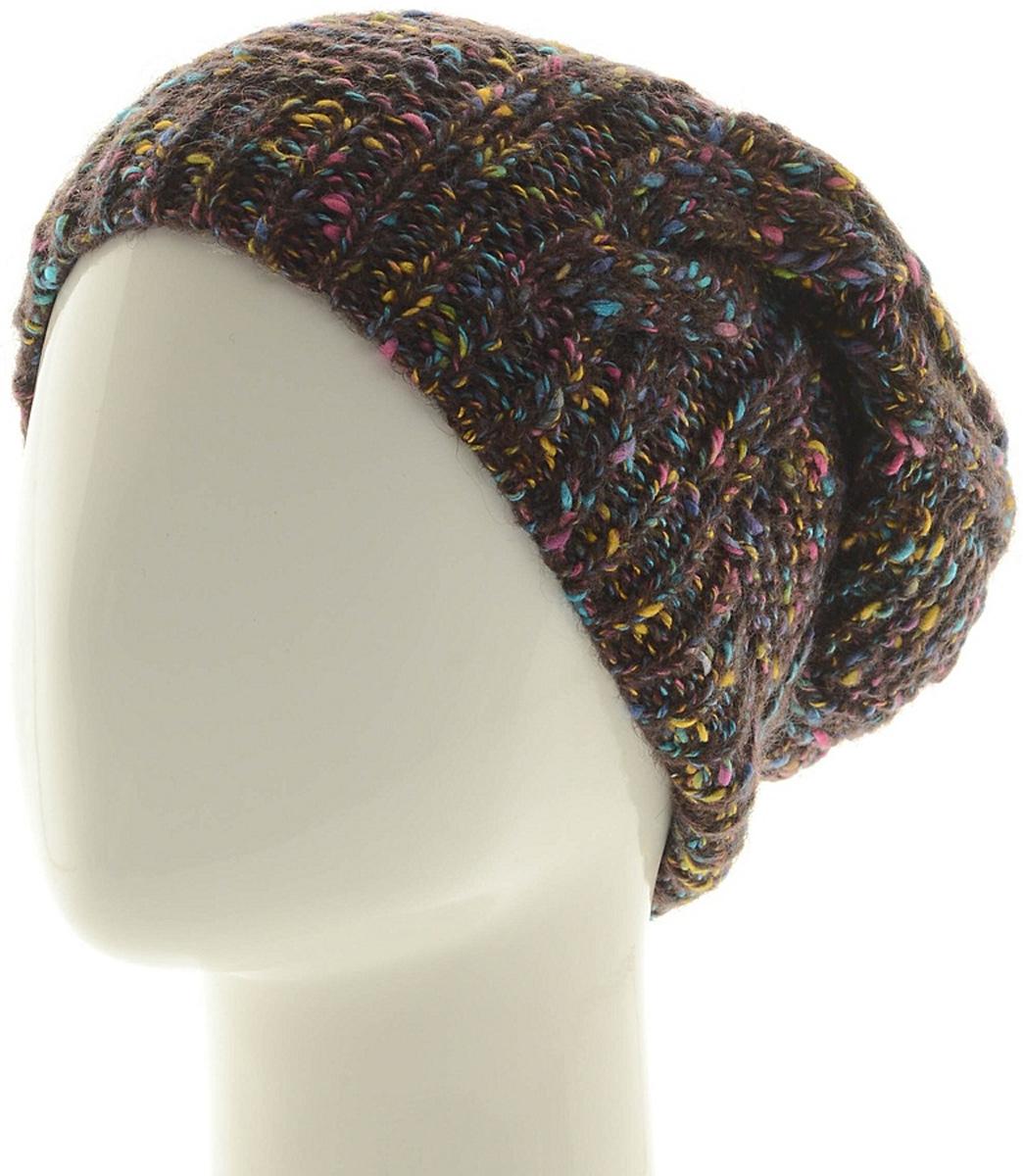 Шапка женская Marhatter, цвет: коричневый. Размер 56/58. MWH6875/2MWH6875/2Стильная шапка, выполнена из высококачественной пряжи. Модель очень актуальна для тех, кто ценит комфорт, стиль и красоту. Отличный вариант на каждый день.