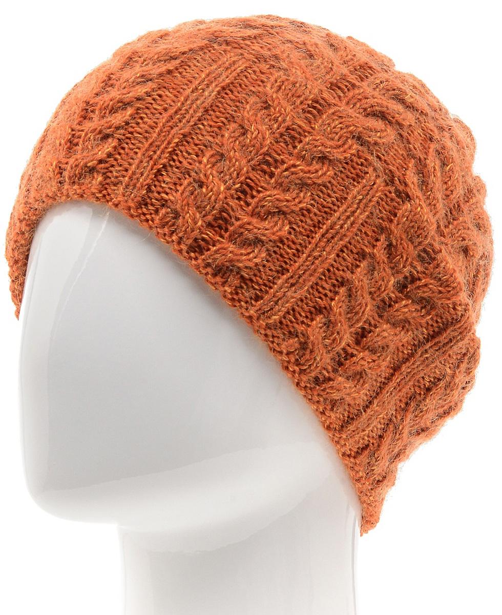 Шапка женская Marhatter, цвет: оранжевый. MWH5739/3. Размер 56/58MWH5739/3Стильная шапка-колпак, выполнена из высококачественной пряжи. Модель очень актуальна для тех, кто ценит комфорт, стиль и красоту. Отличный вариант на каждый день.