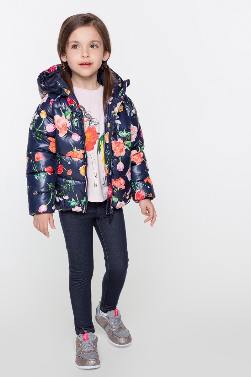 Куртка для девочек Acoola Arani, цвет: темно-синий. 20220130106. Размер 10420220130106