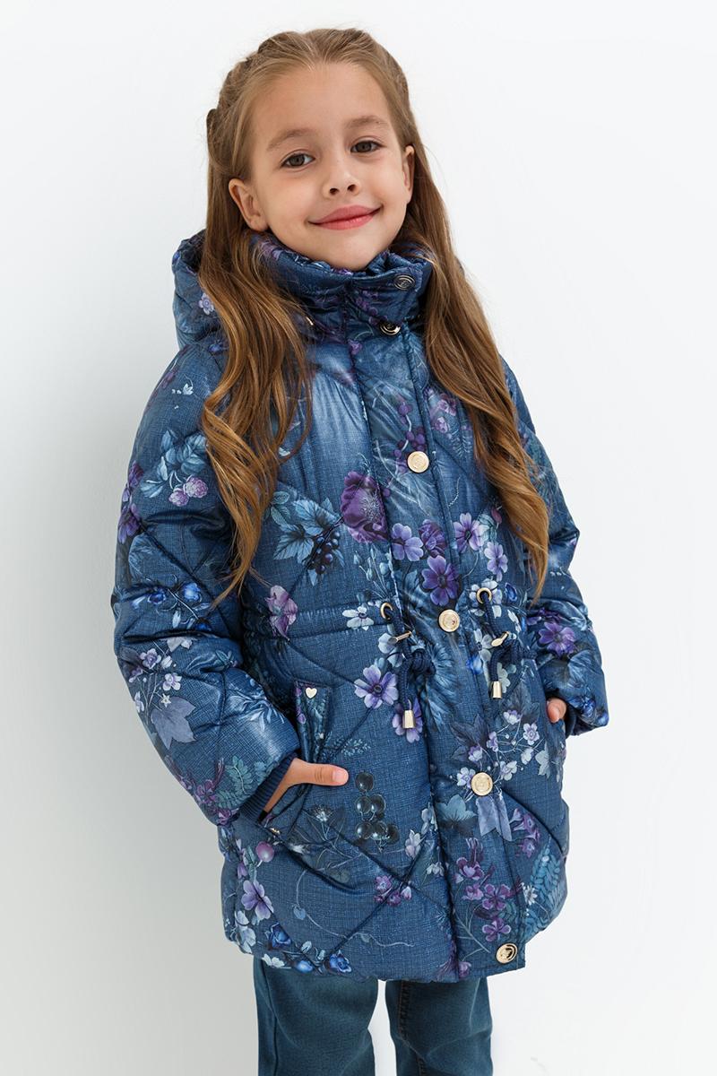 Пальто для девочек Acoola Pictor, цвет: темно-синий. 20220610017. Размер 11020220610017