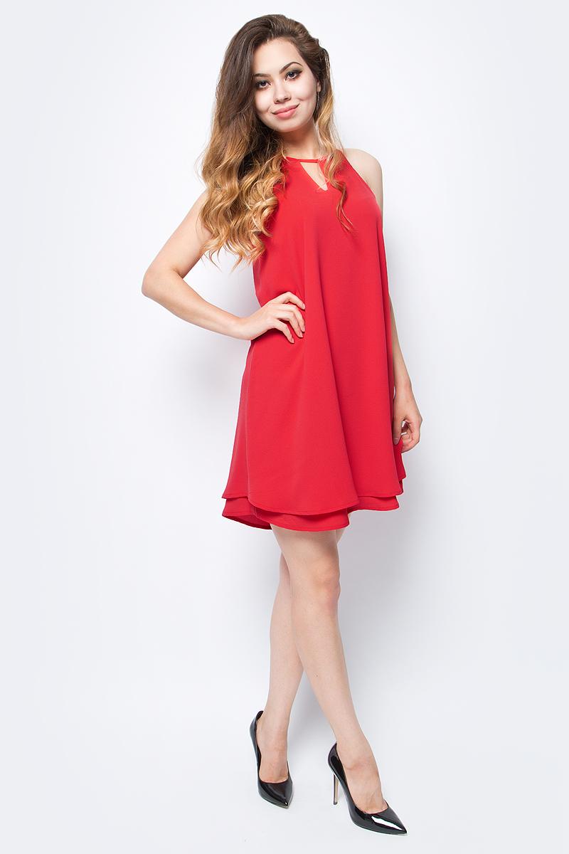 Платье Only, цвет: красный. 15138771_Poinsettia. Размер 40 (46) only a promise