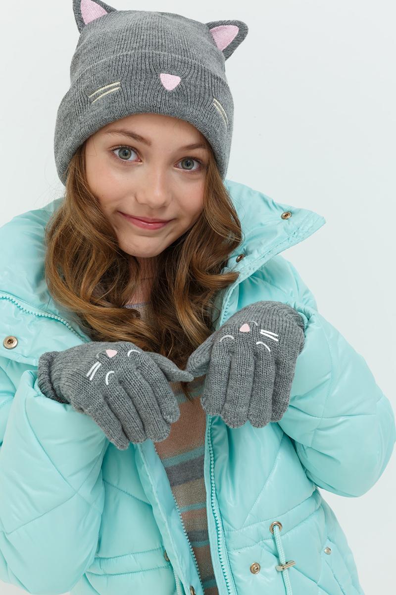 Перчатки для девочек Acoola Giano, цвет: серый. 20236420010. Размер XS (4)20236420010