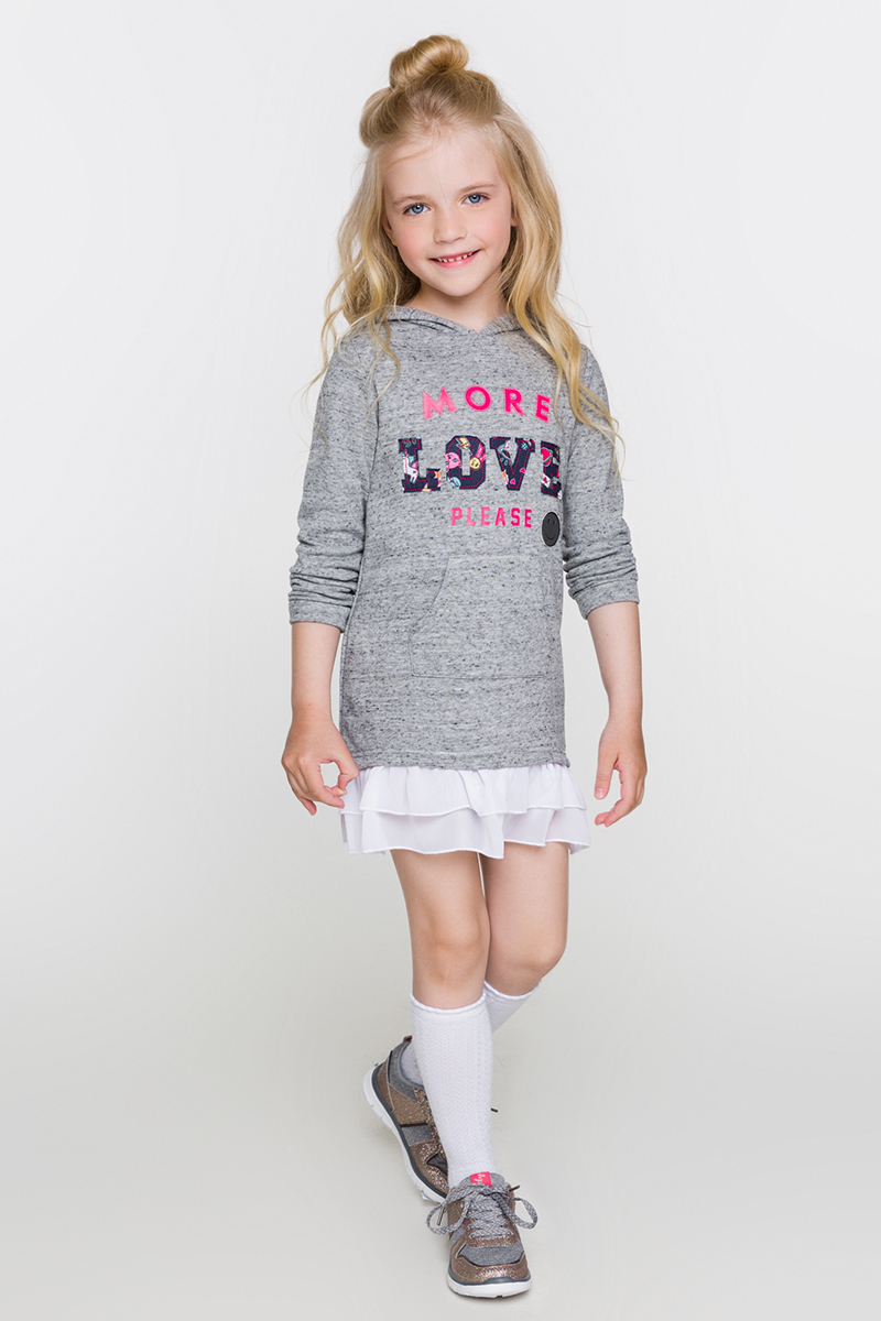 Платье для девочек Acoola Drachma, цвет: серый. 20220200188. Размер 9820220200188