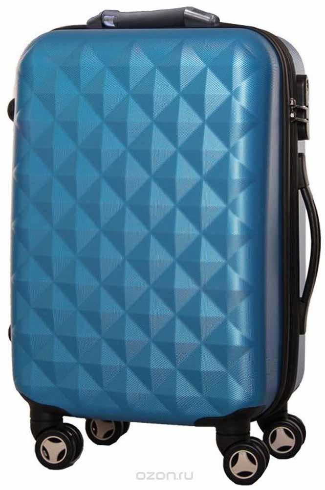 Чемодан Proffi, со встроенными весами, цвет: синий, 43 х 30 х 67, 60 л купить чемодан американ туристер со скидкой