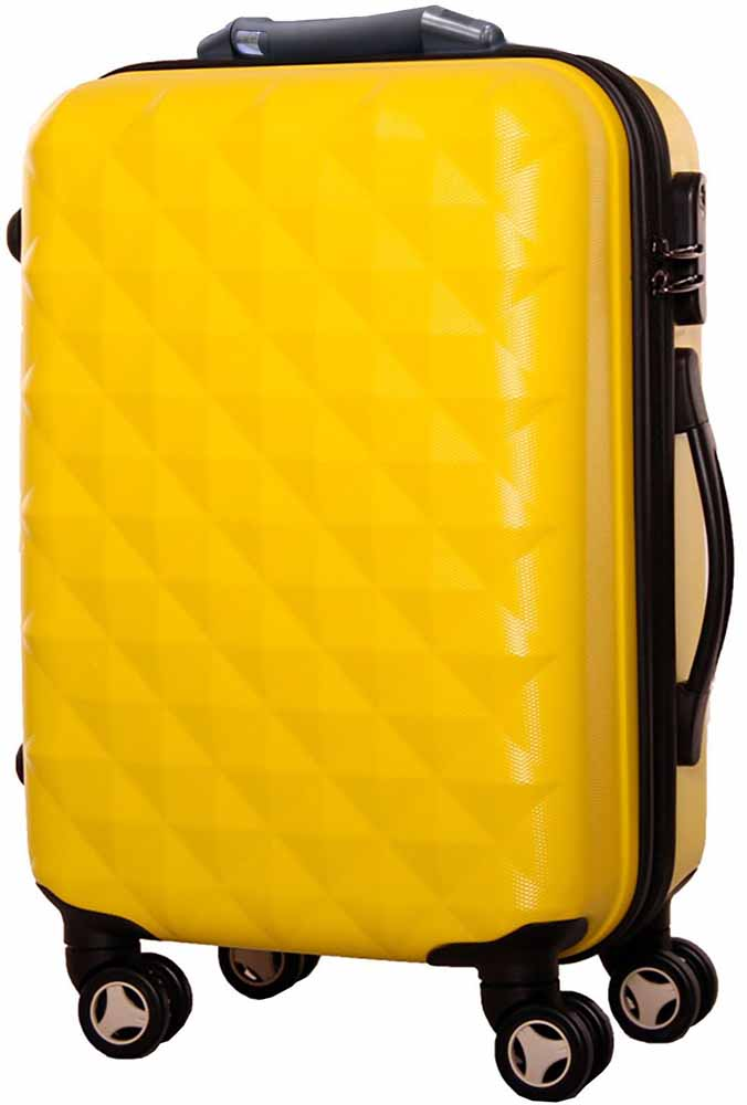 Чемодан Proffi, цвет: желтый, 43 х 30 х 67, 60 л