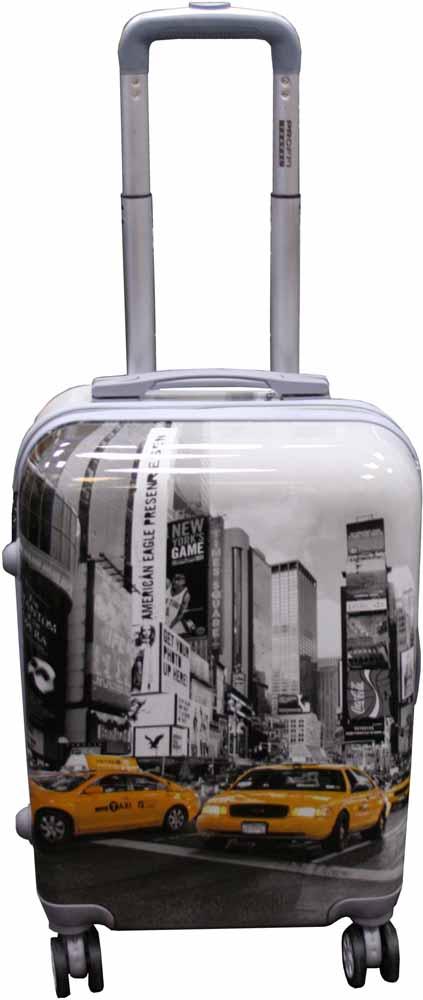 Чемодан Proffi Ретро, цвет: серый, 45 лPH8650Чемодан изготовлен из легкого и прочного поликарбоната, снабжен кодовым замком, независимыми, прорезиненными колесами, выдвижной и боковой ручками для удобной транспортировки.Размер 36х26х56 см, вес: 3,6 кг. Объем чемодана составляет 45 литров.