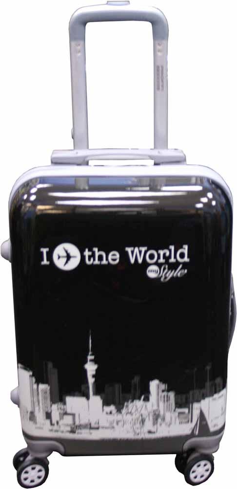 Чемодан Proffi Вояж, цвет: черный, 45 лPH8653Стильный пластиковый чемодан Proffi прекрасно подойдет для путешествий и поездок. Выполнен из поликарбоната.Внутри имеется 2 отделения. Закрывается чемодан на молнию и кодовый замок.Для удобства транспортировки имеется выдвижная ручка, а также боковая ручка. Размер: 36 х 26 х 56 см.Вес: 3,6 кг. Объем: 45 литров.