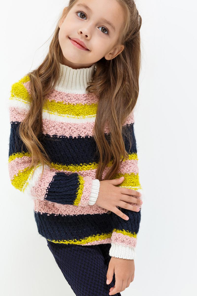 Свитер для девочек Acoola Carter, цвет: мультиколор. 20220320022. Размер 11620220320022