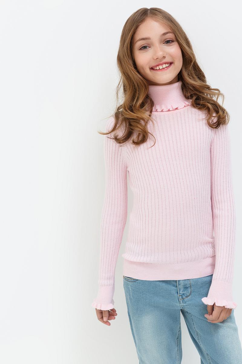 Свитер для девочек Acoola Garisson, цвет: светло-розовый. 20210320021. Размер 14620210320021