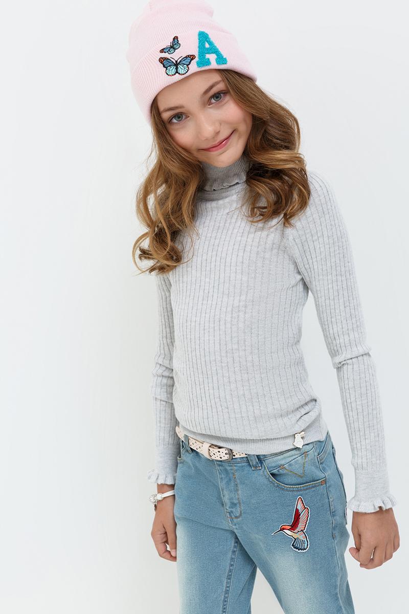 Свитер для девочек Acoola Garisson, цвет: светло-серый. 20210320021. Размер 14020210320021
